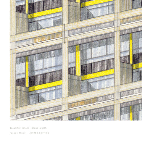 A3 Limited Edition of Hand Drawing - Wandsworth (10 only - 7 remaining)