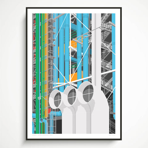 Pompidou Centre, Paris Art Print