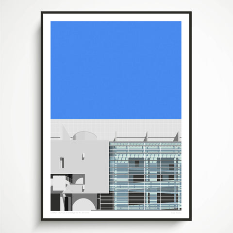 EX DISPLAY A2  Museum of Contemporary Art, Barcelona Art Print (1 ONLY)