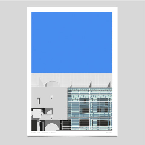 Museum of Contemporary Art, Barcelona Art Print