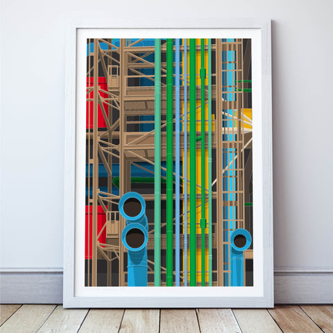 LIMITED EDITION - Pompidou Centre Art Print - Large Format (10 Only - 7 Left)