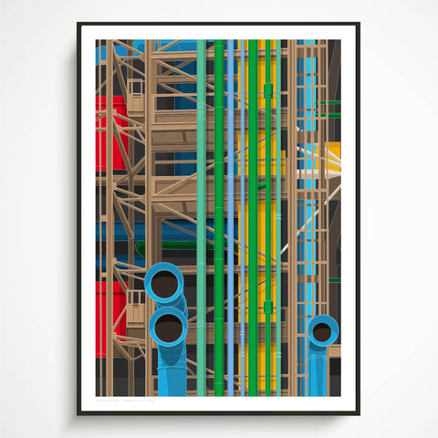 A1 Limited Edition - Pompidou Centre Art Print - (10 Only - 5 left)