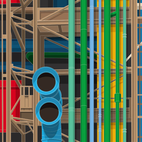 LIMITED EDITION - Pompidou Centre Art Print - Large Format (10 Only - 6 Left)