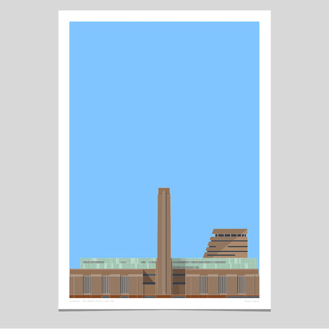 Tate Modern Under a Blue Sky Art Print