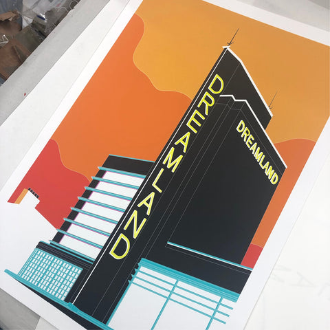A2 Limited Edition - Down to Margate Mixed Media Art Print   -   (25 only - 8 LEFT)