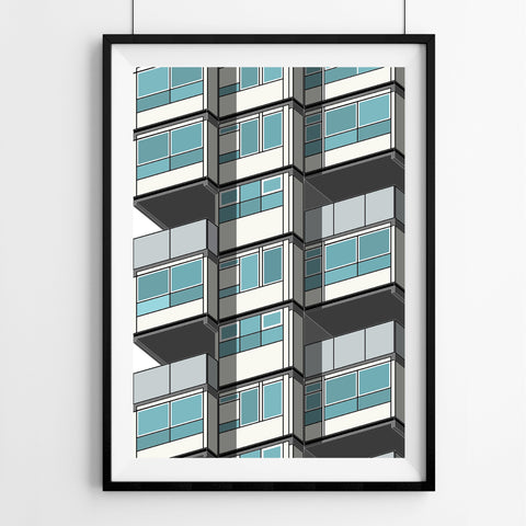 Lambeth Towers (01) Art Print