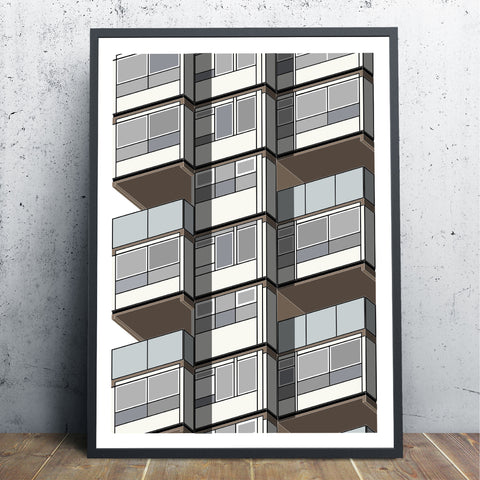 Lambeth Towers (02) Art Print