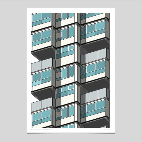 Lambeth Towers Art Print