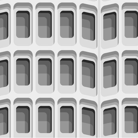 Shapes of Brutalism Camden Town Hall Annexe, London - graphic print