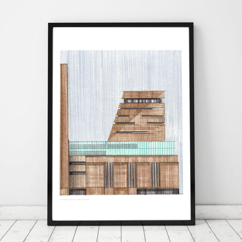 A3 Limited Edition of Hand Drawing - Tate Modern Extension - (10 only)