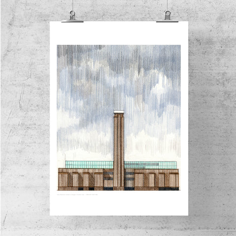 A3 Limited Edition of Hand Drawing - Tate Modern, London (10 only - 7 remaining)