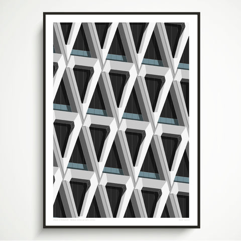 Shapes of Brutalism Welbeck Street Car Park, London - graphic print