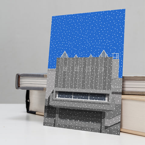 Hayward Gallery in the Snow - Christmas Card (Pack of 4)