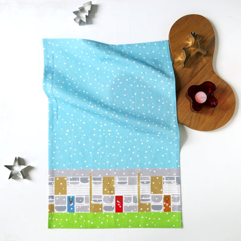 Limited Edition Span House at Christmas Tea Towel (SALE)