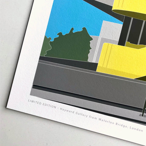 A2 Limited Edition  -  Hayward Gallery from Waterloo Bridge - (30 only)