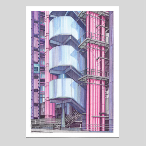 A2 Limited Edition of Hand Drawing - The Lloyd's Building, London - (50 only)