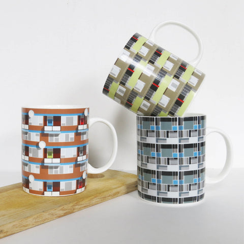 Pattern Architecture Mugs - Set of 3 (LOW STOCK)