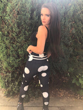 Load image into Gallery viewer, High Waist Polka Dot Leggings