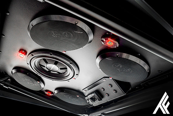 Thumper Fab products feature Rockford Fosgate Audio