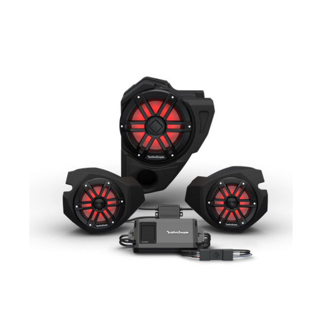 2014+ Polaris RZR Ride Command Rockford Fosgate Audio Kit Color Optix Gen 3 (Stage 3) - Thumper Fab