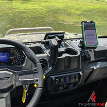 Load image into Gallery viewer, Polaris Ranger Wireless Charger Dash Mount - Thumper Fab