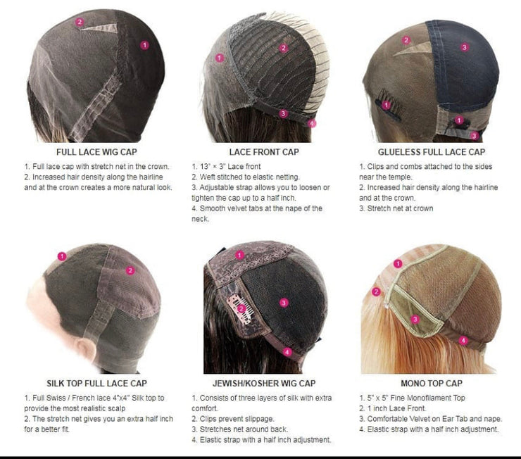 Custom Human hair wigs Choose your texture, colour and length