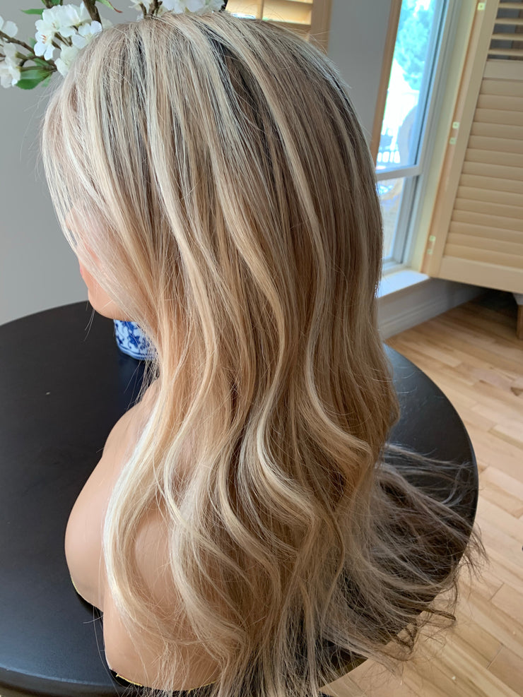 Multi Dimensional blonde with shadow roots 22 inches full lace