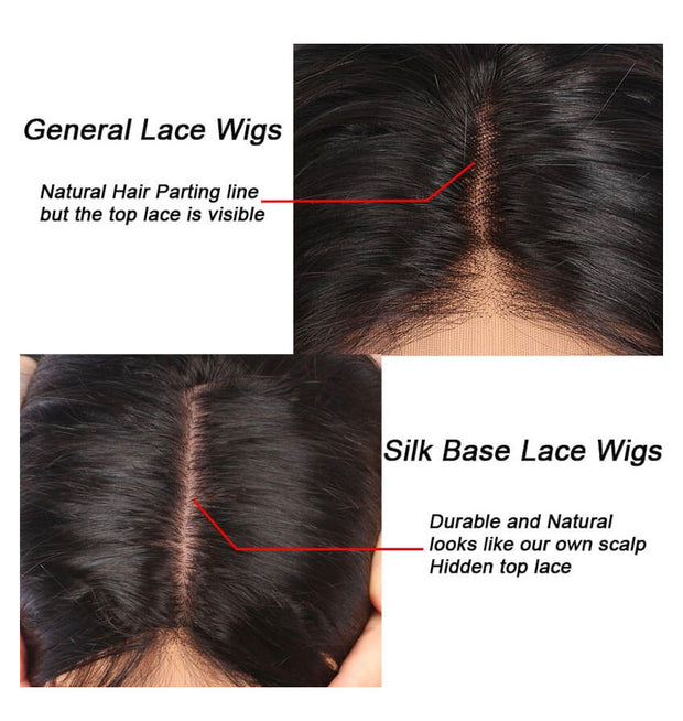 Silk base wig custom length and colour