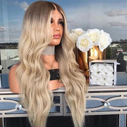Ombré blonde 180% density full lace 24 inches