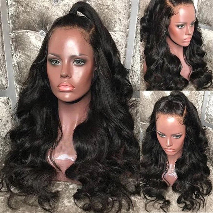 Luscious body wave front lace 1b natural colour 150% density