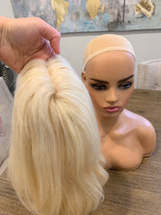 14 inches blonde medium wig