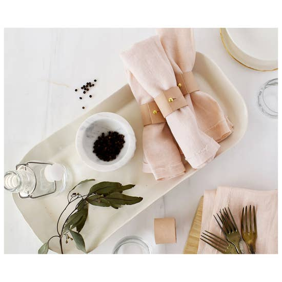 Set of 4 - Leather Napkin Rings