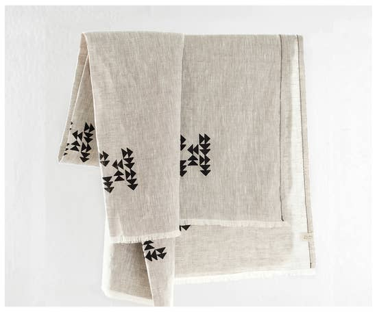 Washed Linen Indian Blanket