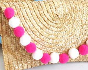 Summer Fun Straw Clutch