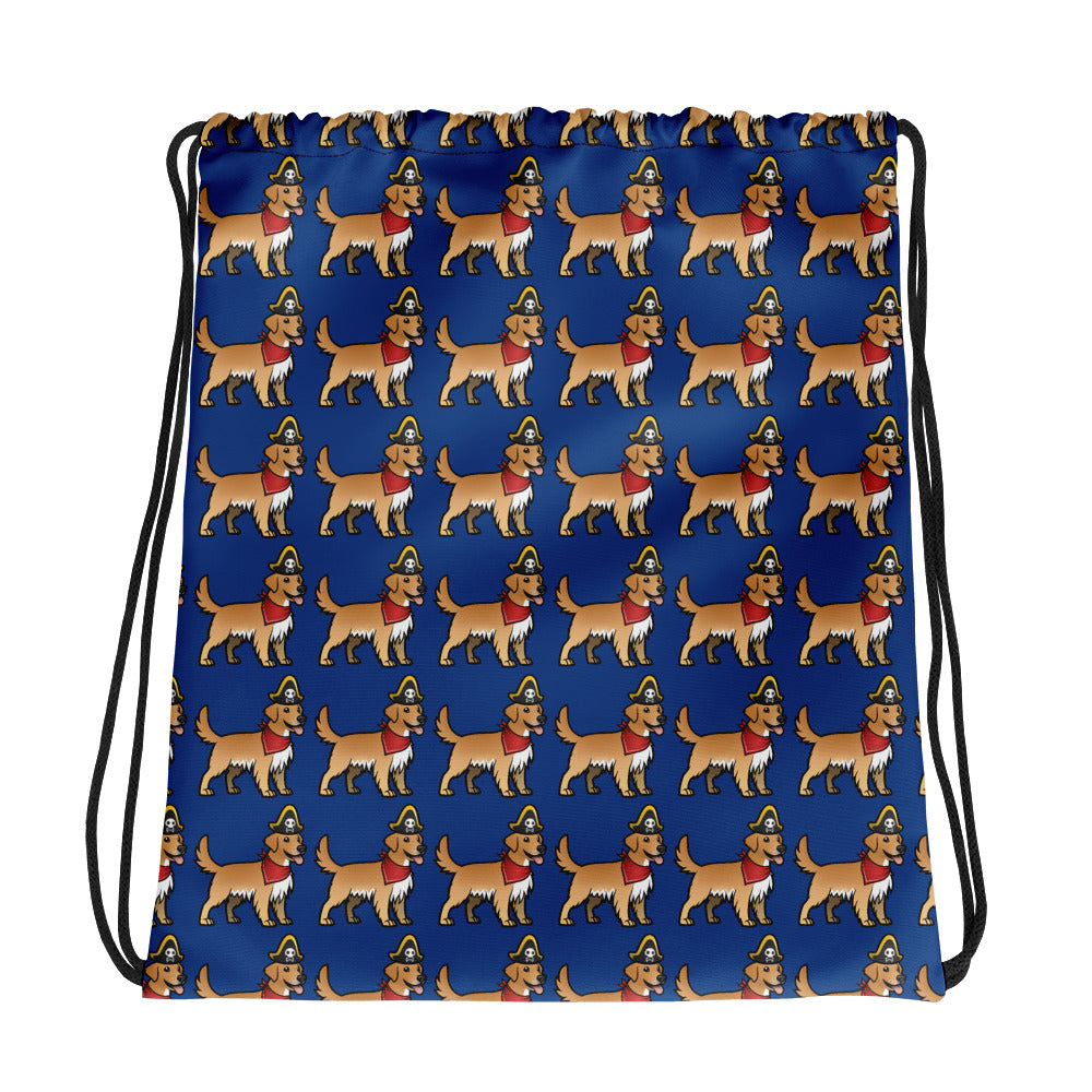 Ships Dog Collection - Kids Drawstring Bag - Blue