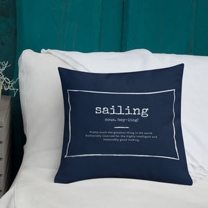 Scatter Cushion - Funny Sailing Definition - Navy