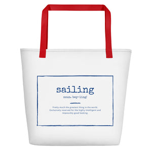 Beach Bag / Boat Bag - Funny Sailing Definition