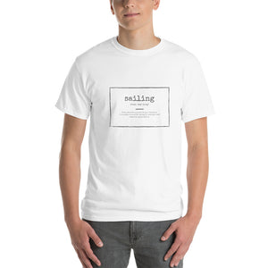 Men's T-Shirt - White - Funny Sailing Definition