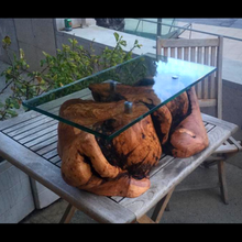Load image into Gallery viewer, Bespoke Handcrafted Olive-wood Coffee Table