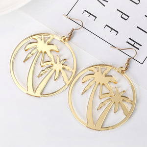 Oversize Tropical Palm Earrings