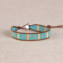 Load image into Gallery viewer, Catarina Leather & Bead Bracelet