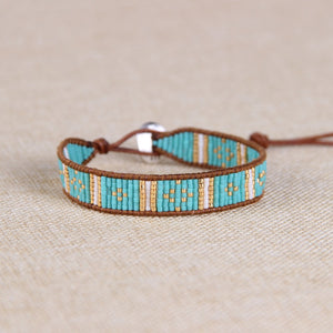 Catarina Leather & Bead Bracelet