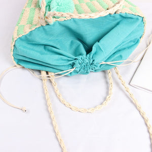 Pastel Pop Straw Bag