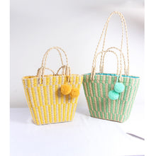 Load image into Gallery viewer, Pastel Pop Straw Bag