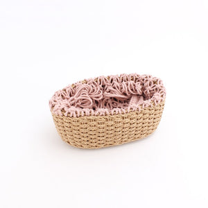 Macrame & Rattan Basket Bag