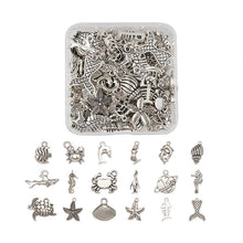 Load image into Gallery viewer, Jewellery Making DIY Kit - Ocean Themed Metal Charms (90pcs/box)