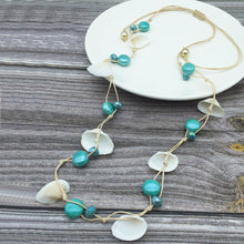 Load image into Gallery viewer, Seashell & Turquoise Necklace