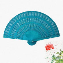 Load image into Gallery viewer, Colour Pop Carved Wooden Fan - 6 Colours