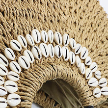 Load image into Gallery viewer, Cowrie Moon Straw Bag