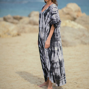 Sea Time Maxi Dress - Charcoal